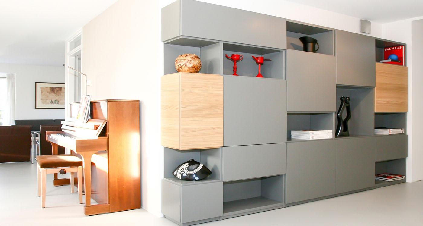 stijlvol n praktisch element de designer ontwerpt een random boekenkast