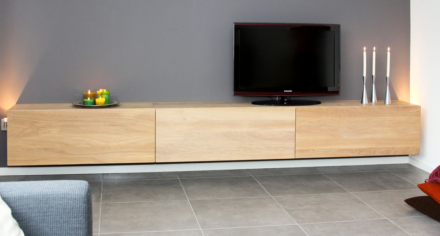 Medium box design tv meubel op maat voor jou cespo for Tv meubel design