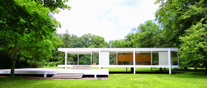 Farnsworth house in Piano, Illinois